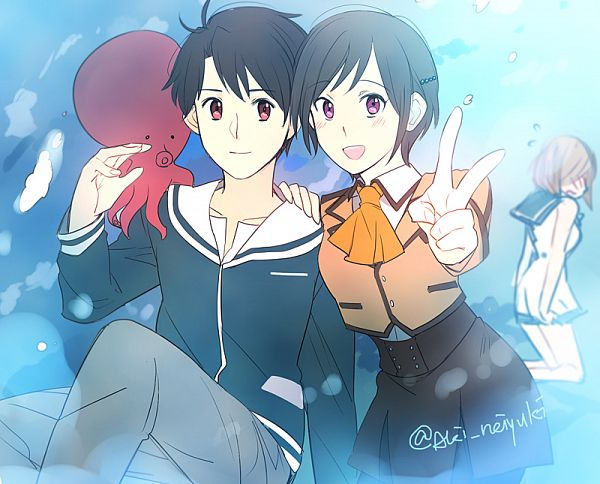 Tags: Anime, Aki (Pixiv560597), Aldnoah Zero, Darzana Magbaredge, Amifumi Inko, Kaizuka Inaho, Sakishima Hikari (Cosplay), Hiradaira Chisaki (Cosplay), Shiodome Miuna (Cosplay)