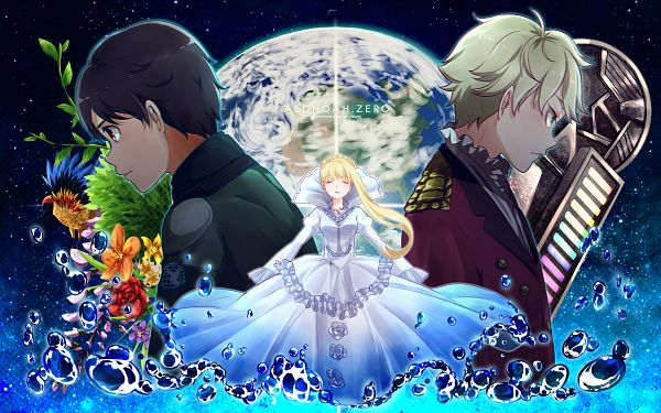 Tags: Anime, Monicanico, Aldnoah Zero, Asseylum Vers Allusia, Slaine Troyard, Kaizuka Inaho, Wallpaper, PNG Conversion