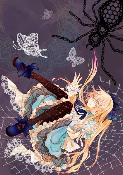 Tags: Anime, Negishi Chiaki, Alice in Wonderland, Alice (Alice in Wonderland), Spider, Fanart, Pixiv, Mobile Wallpaper