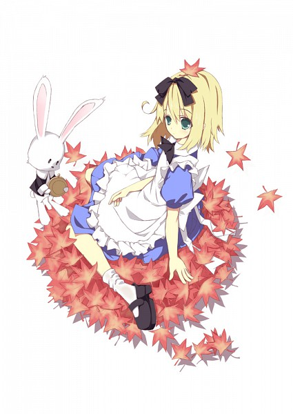 Tags: Anime, Natsuki Yuu (Pixiv id 1164835), Alice in Wonderland, White Rabbit, Alice (Alice in Wonderland), Mobile Wallpaper