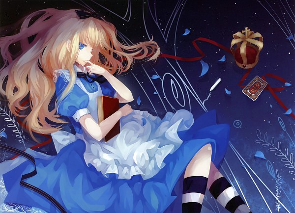 Tags: Anime, Dhiea (Pixiv270545), Alice in Wonderland, Alice (Alice in Wonderland), Fixed