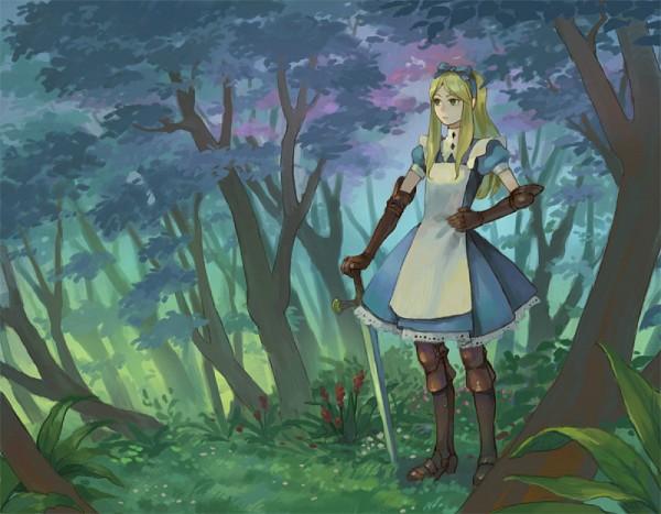 Tags: Anime, Hiko (Scape), Alice in Wonderland, Alice (Alice in Wonderland), Fanart, Pixiv