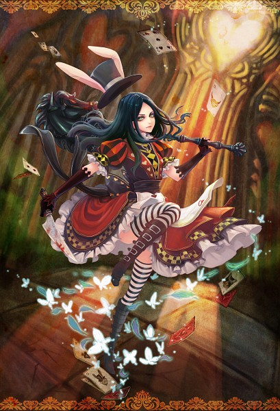 Tags: Anime, Teddy Yang, American McGee's Alice: Madness Returns, American McGee's Alice, Alice (American McGee's), Buckle Boots, Hobby Horse, Pixiv, Fanart, Mobile Wallpaper, Fanart From Pixiv