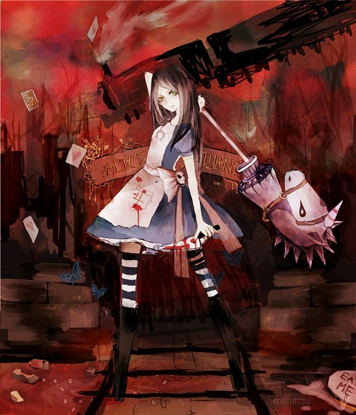 Tags: Anime, Pixiv Id 2592926, American McGee's Alice: Madness Returns, American McGee's Alice, Alice (American McGee's), Blood On Weapons, Hobby Horse, Pixiv, Fanart, Fanart From Pixiv