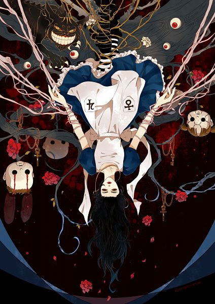 Tags: Anime, Pixiv Id 2794717, American McGee's Alice: Madness Returns, American McGee's Alice, Alice (American McGee's), Cheshire Cat (American McGee's), Eyeball, Pixiv, Fanart, Mobile Wallpaper, Fanart From Pixiv