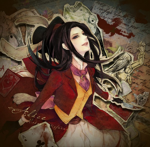 Tags: Anime, Satsu, American McGee's Alice: Madness Returns, American McGee's Alice, Alice (American McGee's), Yellow Outerwear, White Rabbit (Cosplay), Pixiv, Fanart From Pixiv, Fanart, PNG Conversion