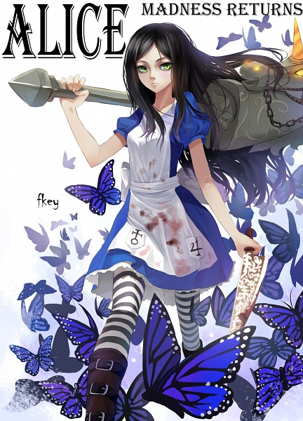 Tags: Anime, FKEY, American McGee's Alice: Madness Returns, American McGee's Alice, Alice (American McGee's), Hobby Horse, Blood On Weapons, Pixiv, Mobile Wallpaper, Fanart, Fanart From Pixiv, PNG Conversion