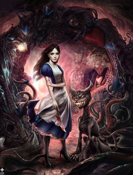 Tags: Anime, 0mri, American McGee's Alice, Cheshire Cat (American McGee's), Alice (American McGee's), deviantART