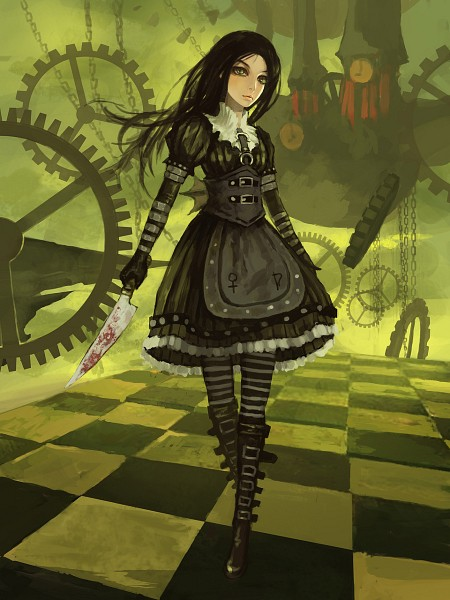 Tags: Anime, Gjred, Alice in Wonderland, American McGee's Alice, American McGee's Alice: Madness Returns, Alice (American McGee's), Buckle Boots, Pixiv, Fanart, Fanart From Pixiv