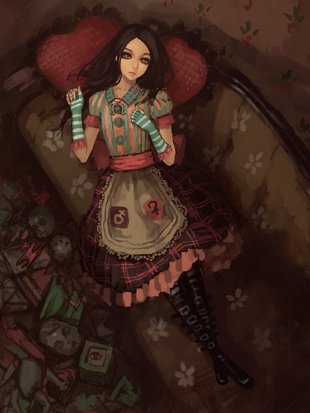 Tags: Anime, Gjred, Alice in Wonderland, American McGee's Alice, American McGee's Alice: Madness Returns, Alice (American McGee's), Striped Gloves, Fanart, Fanart From Pixiv, Pixiv