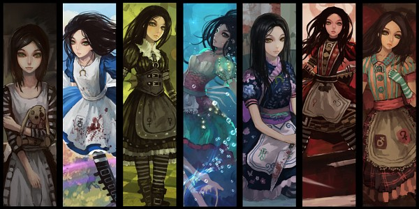 Tags: Anime, Yoshi Tsutomu, Gjred, Alice in Wonderland, American McGee's Alice: Madness Returns, American McGee's Alice, Alice (American McGee's), Pixiv, Wallpaper, Facebook Cover, Fanart From Pixiv, Fanart