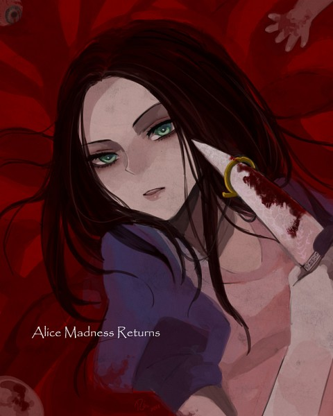 Tags: Anime, Arindazo, American McGee's Alice: Madness Returns, American McGee's Alice, Alice (American McGee's), Blood On Weapons, Fanart, deviantART, Fanart From DeviantART