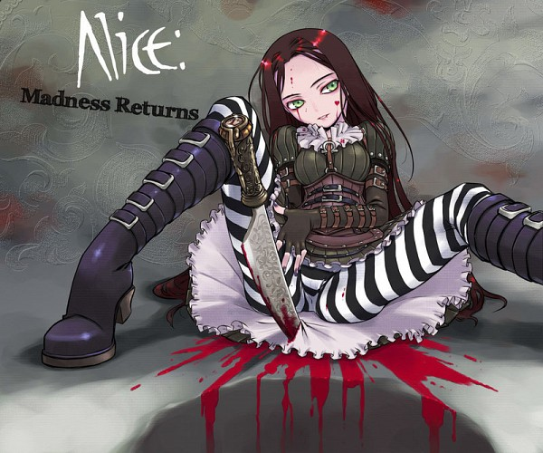 Tags: Anime, Nakamura Tetsuya, American McGee's Alice, American McGee's Alice: Madness Returns, Alice (American McGee's), Blood On Weapons, Buckle Boots, Fanart