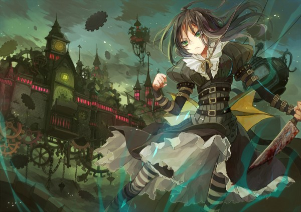Tags: Anime, Hime03, American McGee's Alice, American McGee's Alice: Madness Returns, Alice (American McGee's), Blood On Weapons, Steampunk, Pixiv, Fanart From Pixiv, Fanart