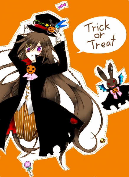 Tags: Anime, SQUARE ENIX, Pandora Hearts, Alice Baskerville, Text: Trick Or Treat, Mobile Wallpaper