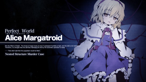 Tags: Anime, Etogami Kazuya, Touhou, Alice Margatroid, Writing Error, Wallpaper, HD Wallpaper