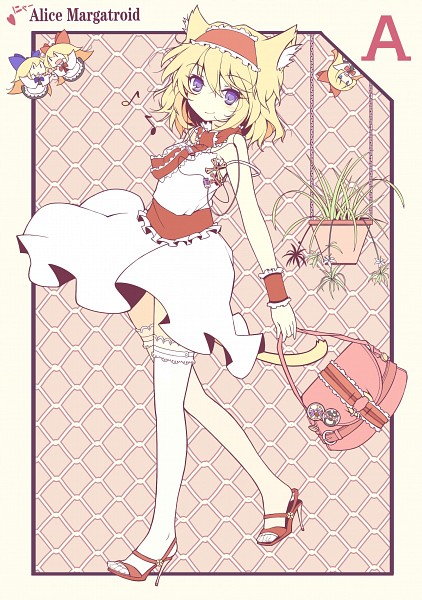 Tags: Anime, Ideolo, NEKO WORKi, Touhou, Shanghai, Hourai, Alice Margatroid, Mobile Wallpaper, Card (Source), Pixiv, Scan