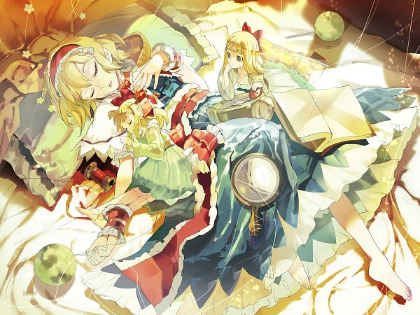 Tags: Anime, 1ten, Touhou, Alice Margatroid, Shanghai, Frilled Cuffs, Wallpaper, PNG Conversion, Fanart, Pixiv, Fanart From Pixiv
