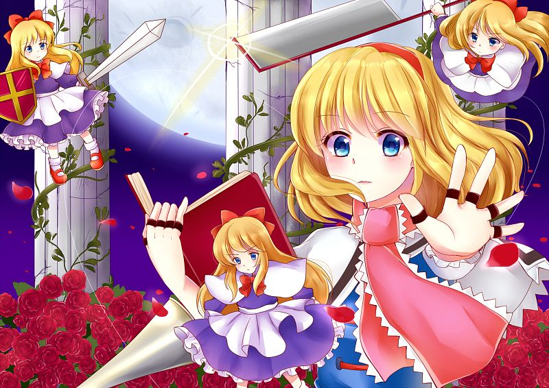 Tags: Anime, Pixiv Id 4507006, Touhou, Alice Margatroid, Shanghai, Pixiv, Fanart From Pixiv, PNG Conversion, Fanart