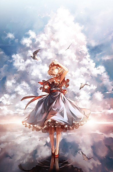 Tags: Anime, Kozou, Touhou, Alice Margatroid, Revision, Fanart, Fanart From Pixiv, Pixiv, Mobile Wallpaper