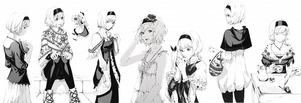 Tags: Anime, Sawasawa, Touhou, Alice Margatroid, Shanghai, Shoulder Strap, PNG Conversion, Fanart, Twitter Header, Pixiv, Fanart From Pixiv