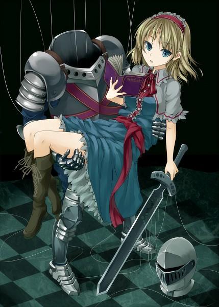 Tags: Anime, Unasaka Ryou, Touhou, Alice Margatroid, Pixiv, Mobile Wallpaper