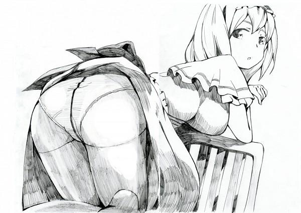 Tags: Anime, Pixiv Id 2457225, Touhou, Alice Margatroid, Graphite, Fanart, Pixiv
