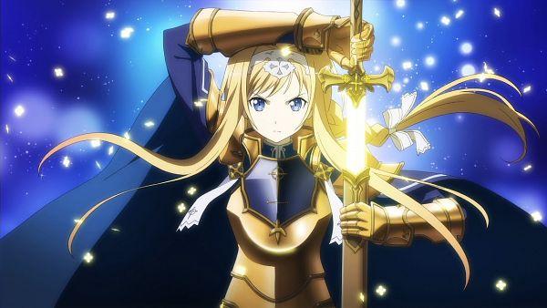 Tags: Anime, Bandai Namco Entertainment, Sword Art Online, Accel World VS Sword Art Online: Chitose no Tasogare, Alice Schuberg, CG Art, Official Art, Wallpaper, Alice Zuberg