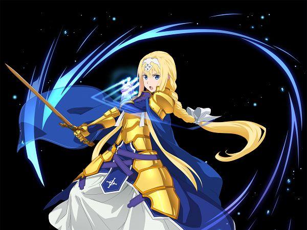 Tags: Anime, Bandai Namco Entertainment, Sword Art Online, Sword Art Online: Alicization Blading, Alice Schuberg, Blue Cape, 1920x1440 Wallpaper, Wallpaper, Official Art, Facebook Cover, Alice Zuberg