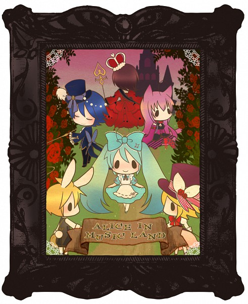 Tags: Anime, Y Ojisan, Alice in Wonderland, VOCALOID, Hatsune Miku, Kagamine Len, Mad Hatter, Kagamine Rin, MEIKO (VOCALOID), Megurine Luka, KAITO, White Rabbit (Cosplay), Alice (Alice in Wonderland) (Cosplay)