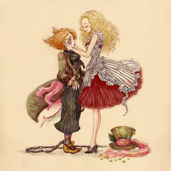 Tags: Anime, Hideandseek, Alice in Wonderland (2010 film), Alice in Wonderland, Alice Kingsleigh, Tarrant Hightopp, Pixiv