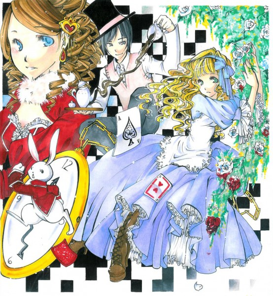 Tags: Anime, Alice in Wonderland, Mad Hatter, Queen of Hearts, White Rabbit, Alice (Alice in Wonderland), Pocket Watch