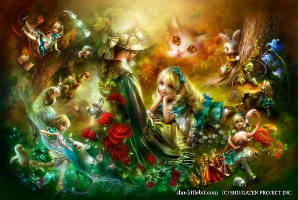 Tags: Anime, SHU (LittleBit), Alice in Wonderland, Dodo (Alice in Wonderland), Alice (Alice in Wonderland), Cheshire Cat, White Rabbit, Queen of Hearts, Caterpillar (Alice in Wonderland), Dodo (Bird), Flamingo, Fanart