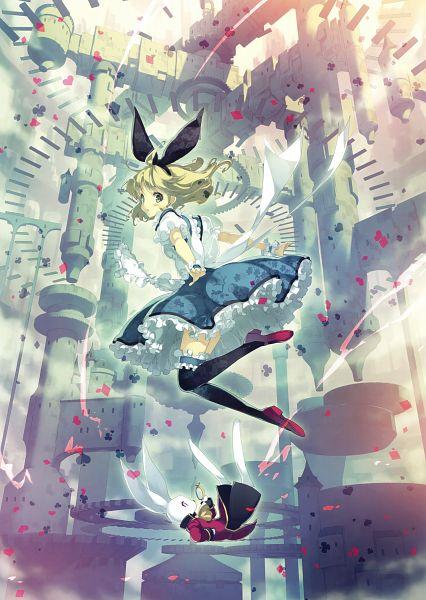 Tags: Anime, Ueda Ryou, Alice in Wonderland, Eshi 100-nin Ten 07, Alice (Alice in Wonderland), White Rabbit, Scan