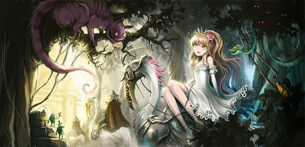 Tags: Anime, Ume (Illegal Bible), Alice in Wonderland, Cheshire Cat, Alice (Alice in Wonderland), Facebook Cover, Original