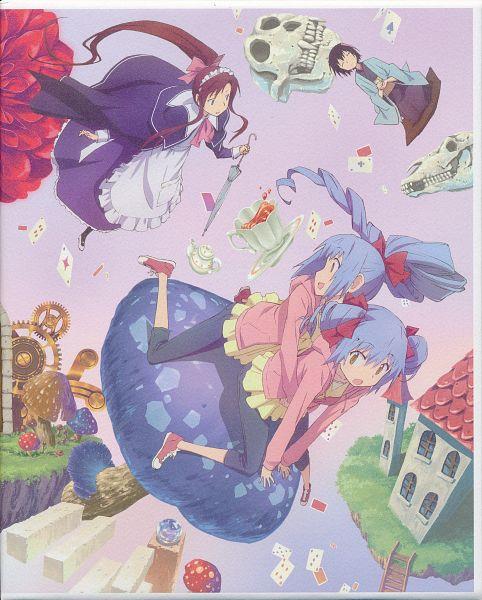 Tags: Anime, Iwakura Kazunori, J.C.STAFF, Alice to Zouroku, Miriam C. Tachibana, Hinagiri Yonaga, Hinagiri Asahi, DVD (Source), Official Art, Character Request, Scan