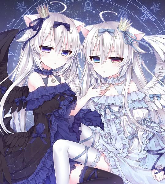 Tags: Anime, Alicerabbit, Eve Astroel, Birthmark, Zodiac (Symbol), Opposites, Mini Crown, Zodiac, Original