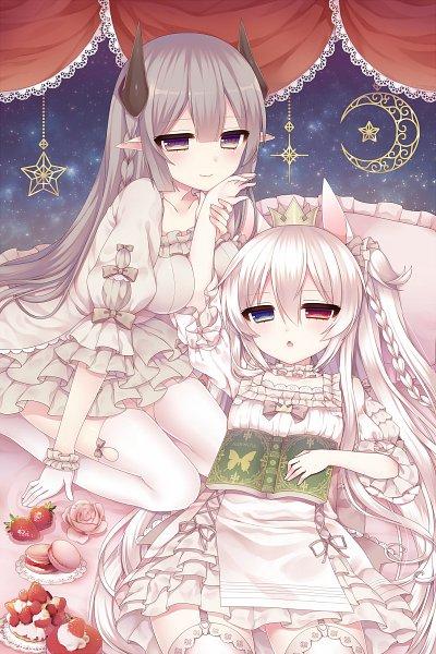 Tags: Anime, Alicerabbit, Alice Claudia, Gray Outfit, 800x1200 Wallpaper, Gray Bow, Ark Wallia, Gray Dress, Pixiv, Original, Wallpaper