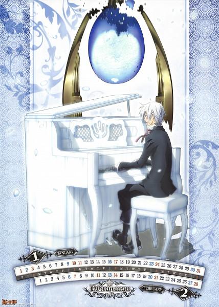 Tags: Anime, D.Gray-man, Allen Walker, Scan, Mobile Wallpaper, Calendar (Source), Official Art