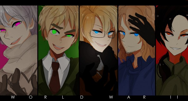 Tags: Anime, Kite-mitiko, Axis Powers: Hetalia, United States, Russia, China, France, United Kingdom, War, Facebook Cover, Fanart, World War II, Fanart From DeviantART