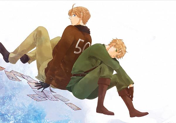 Tags: Anime, Kisaragi Manami, Axis Powers: Hetalia, United Kingdom, United States, Fanart, Pixiv, Allied Forces