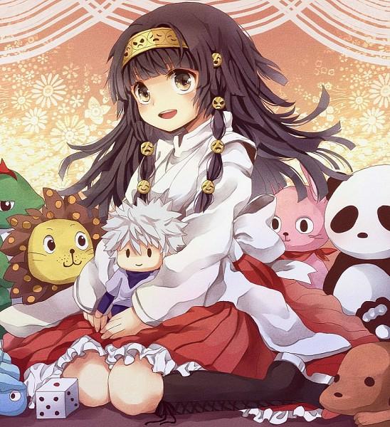Tags: Anime, 1994sionn, Hunter x Hunter, Alluka Zoldyck, Killua Zoldyck, Stuffed Lion, Stuffed Panda, Stuffed Dinosaur, Stuffed Dog, Dice, Pixiv, Fanart