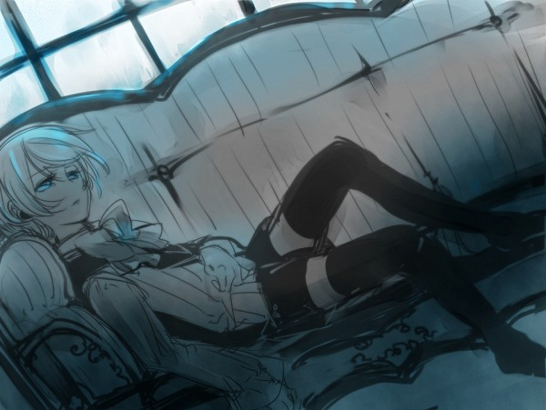 Tags: Anime, Yamada Ako, Kuroshitsuji, Alois Trancy, Laying on Couch, Fanart, Sketch