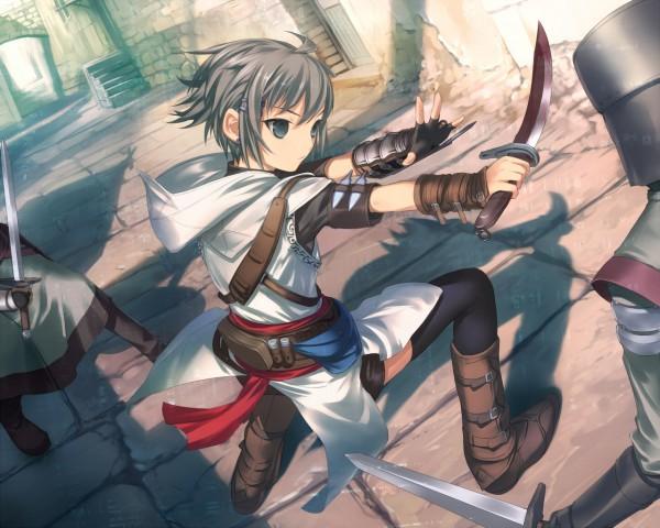 Tags: Anime, Uni (Artist), Suzumiya Haruhi no Yuuutsu, Assassin's Creed, Nagato Yuki, Altair Ibn La-Ahad, Altair Ibn La-Ahad (Cosplay), Nagato Yuki (Cosplay), Bodyguard