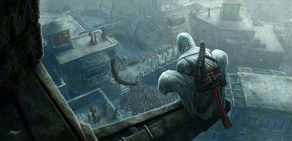 Tags: Anime, Kerembeyit, Assassin's Creed, Altair Ibn La-Ahad, Eagle, Crowd, Fanart, Fanart From DeviantART, deviantART