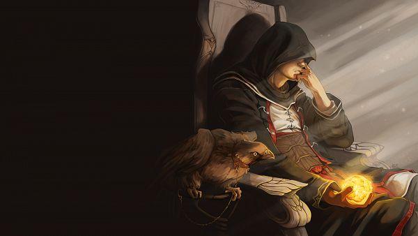 Tags: Anime, Tervola, Assassin's Creed, Altair Ibn La-Ahad, Griffin, Fanart From DeviantART, Wallpaper, Fanart, Facebook Cover, deviantART