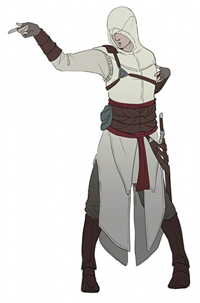 Tags: Anime, Doubleleaf, Assassin's Creed, Altair Ibn La-Ahad, Michael Jackson (Parody), Mobile Wallpaper