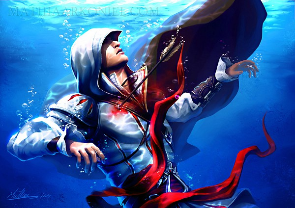 Tags: Anime, MathiaArkoniel, Assassin's Creed, Altair Ibn La-Ahad, Ezio Auditore Da Firenze, Fanart