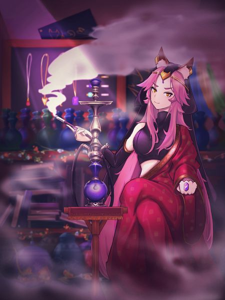 Tags: Anime, Pixiv Id 15181105, Fate/Grand Order, Alter Ego (Tamamo Vitch), Caster (Fate/EXTRA), Hookah, Pixiv, Fanart, Fanart From Pixiv