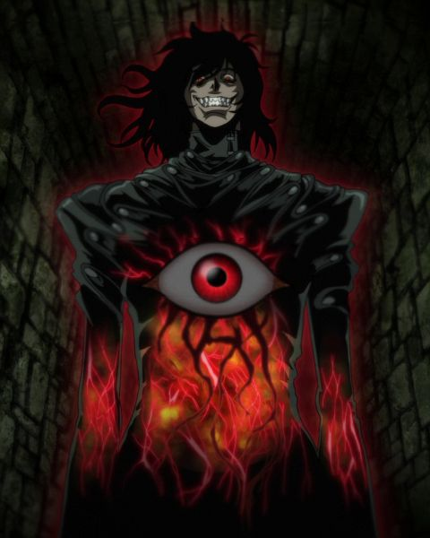Tags: Anime, HELLSING, Alucard (Hellsing), Liri (Artist), Hell, Hellsing Ultimate, Screenshot